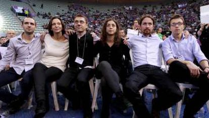 Podemos founders in October 2014.