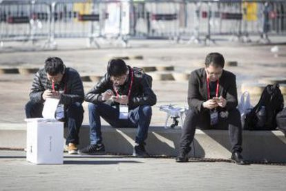 MWC attendees in Barcelona.