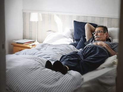 José Luis Sagüés, pictured here in his bedroom, just days before his death.