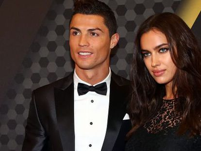 Cristiano Ronaldo and Irina Shayk while they were still dating.