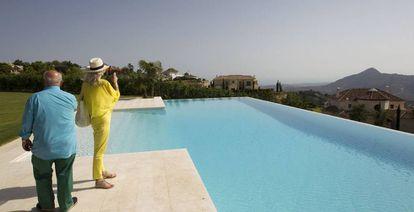 Property investors at the La Zagaleta estate in Marbella, southern Spain.