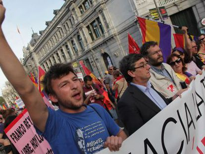 Monday's march in Madrid in support of a new Republic.