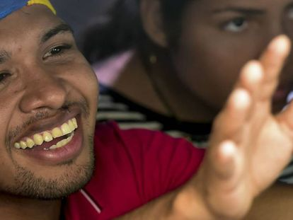 Venezuelan musican and Maduro opponent Wuilly Arteaga at a press conference on August 17.