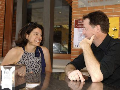Britain's deputy PM, Nick Clegg, and his wife Miriam González relax in Olmedo, Valladolid this week.