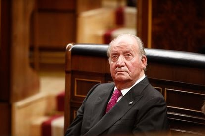 A file photo of Juan Carlos observing Constitution Day on December 6, 2018.