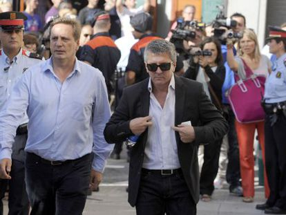 Jorge Horacio Messi (wearing sunglasses) is accused of masterminding the tax fraud.