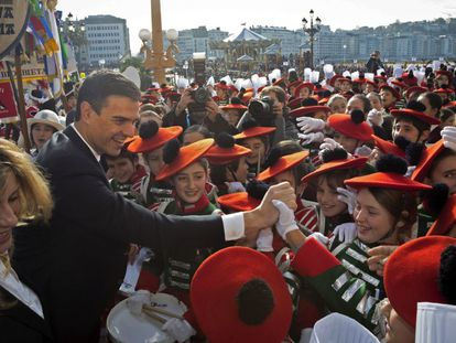 Pedro Sánchez in San Sebastián on Wednesday.