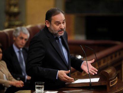 Transportation Minister José Luis Ábalos in Congress today.