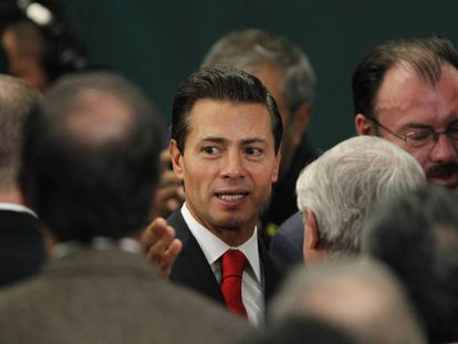 Mexico's President Enrique Peña Nieto on Monday.