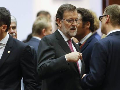 Mariano Rajoy at the European Council meeting in Brussels.