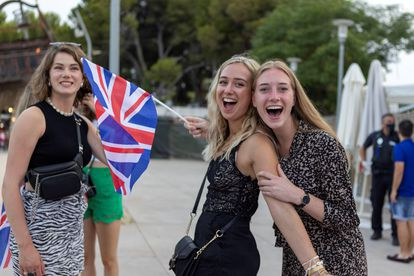 British tourists in Magaluf, Mallorca.