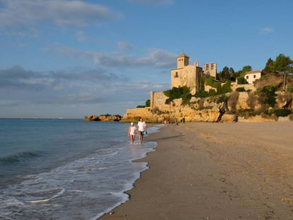 Tamarit beach in Tarragona.