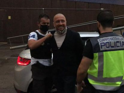 Vittorio Raso on the day of his arrest in Barcelona.