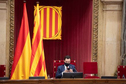 Catalan parliament speaker Roger Torrent on July 21.