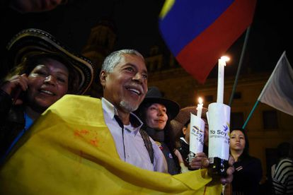 Colombian's celebrate the new peace deal.