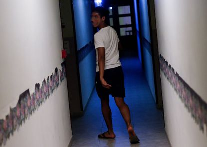 A migrant minor at a center in Lleida