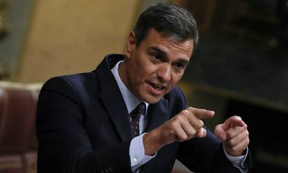 Pedro Sánchez in Congress.