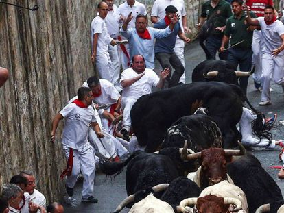 Watch Day one of the Running of the Bulls 2018.