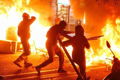 Disturbances last week in Catalonia.