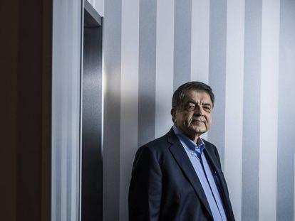 Sergio Ramirez, Cervantes prize winner, at the Lusso Infantas hotel.