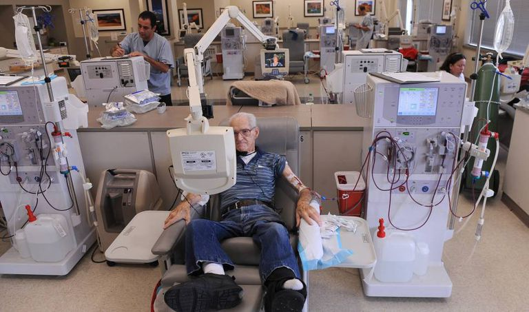 A patient receives dialysis treatment in the US.