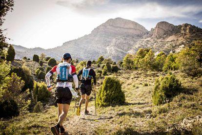 Conpetitors race near the Penyagolosa peak.