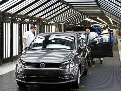 Volkswagen's Pamplona plant in northern Spain.
