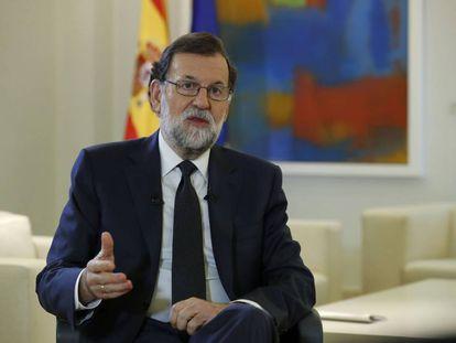 El jefe del Ejecutivo, Mariano Rajoy en una entrevista con la Agencia Efe.