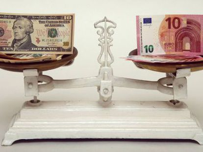 The US dollar and the euro reached near parity in the month of March.