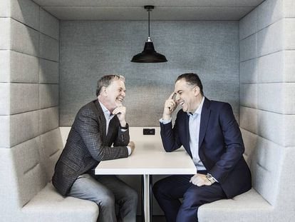 Reed Hastings and Paco Ramos at Casa Netflix.