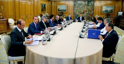A meeting of Spain's National Security Council in 2015.