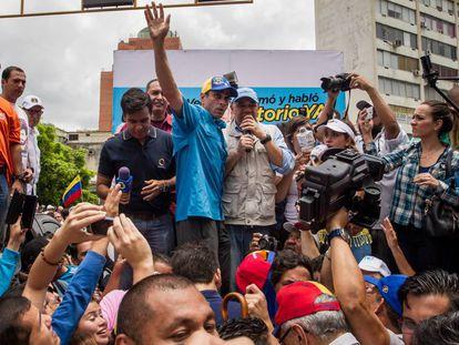 Opposition leaders Héctor Capriles y Jesús Torrealba.