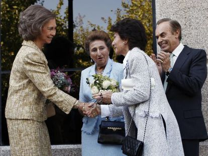 Paloma O'Shea (right) and Queen Sofía at the 2008 opening of the institute.