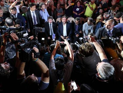 Catalan Regional Premier Carles Puigdemont and his deputy Oriol Junqueras.