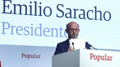 Banco Popular President Emilio Saracho.