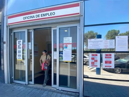 An employment office in Madrid on July 2.