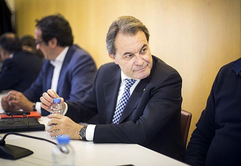 Artur Mas at CDC headquarters on Monday.