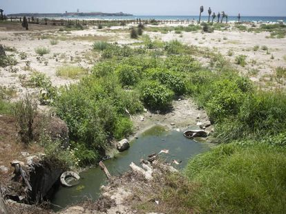 Waste water in Tarifa.