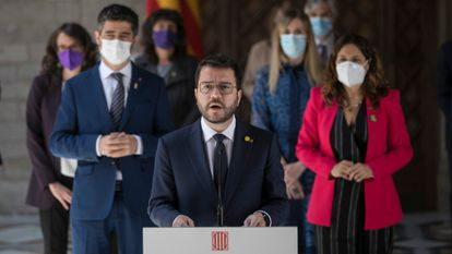 The newly elected Catalan government is sworn in on Wednesday.