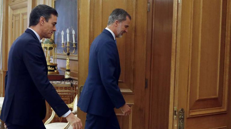Acting PM Pedro Sánchez meeting with Felipe VI this Tuesday.