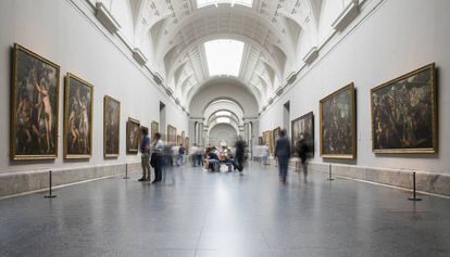 The central gallery at the Prado Museum.