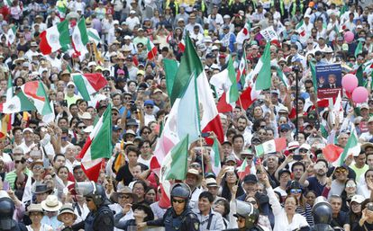 Mexicans take to the streets at the weekend to protest against Donald Trump.