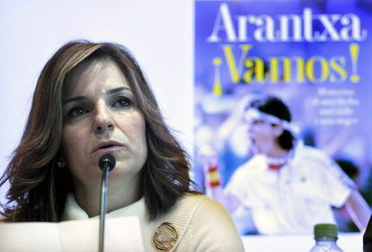 Former tennis champion Arantxa Sánchez Vicario during the presentation of her book in Barcelona on February 14.
