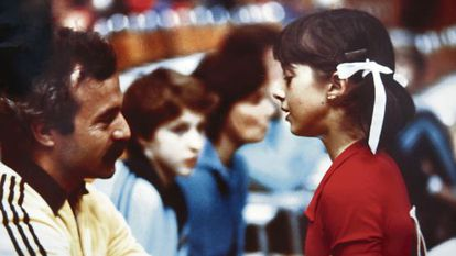 Jesús Carballo and Gloria Viseras during a competition in the late 1970s.