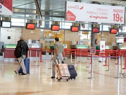 The airport of Tenerife Norte-Ciudad de La laguna in the Canary Islands.