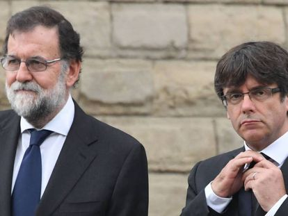 Spanish PM Mariano Rajoy and Catalan premier Carles Puigdemont.