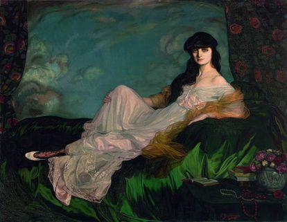 Portrait of the Countess Mathieu de Noailles by Ignacio Zuloaga.