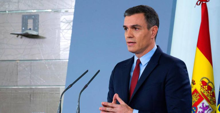 Prime Minister Pedro Sánchez during Tuesday's press conference.