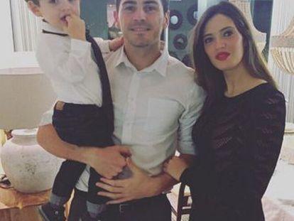 Iker Casillas with Sara Carbonero and their son Martín.