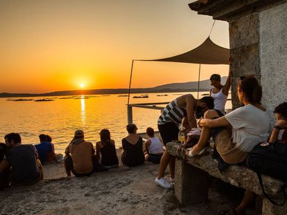 The sunset in Illa de Arousa (Pontevedra) this weekend.